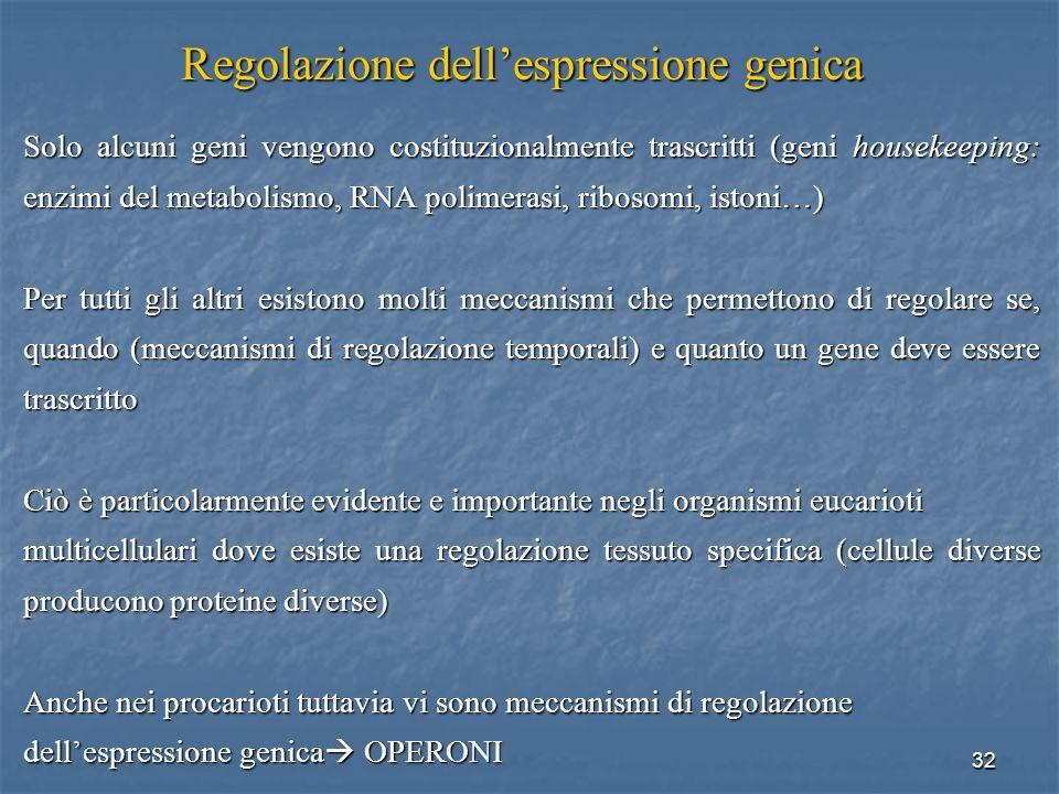 Regolazione dell'espressione genica
