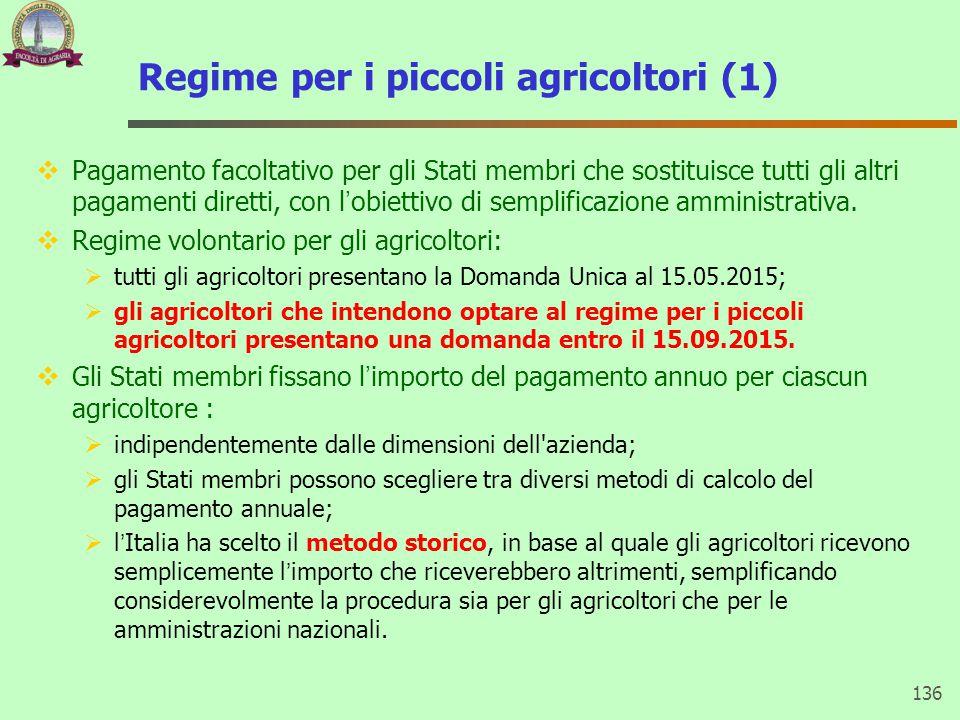 Regime per i piccoli agricoltori (1)