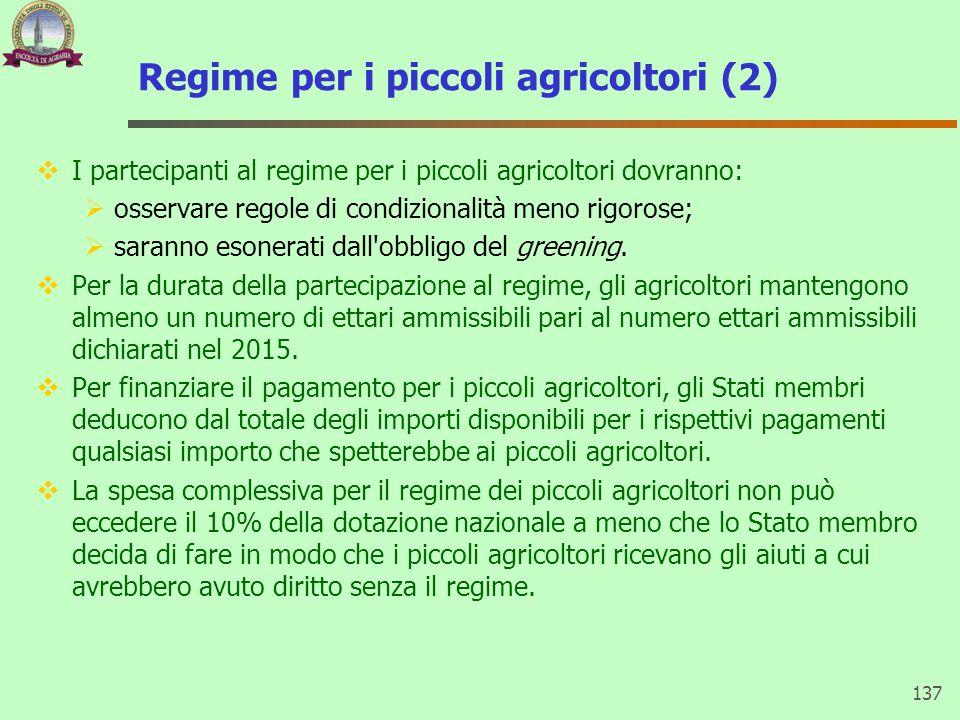 Regime per i piccoli agricoltori (2)