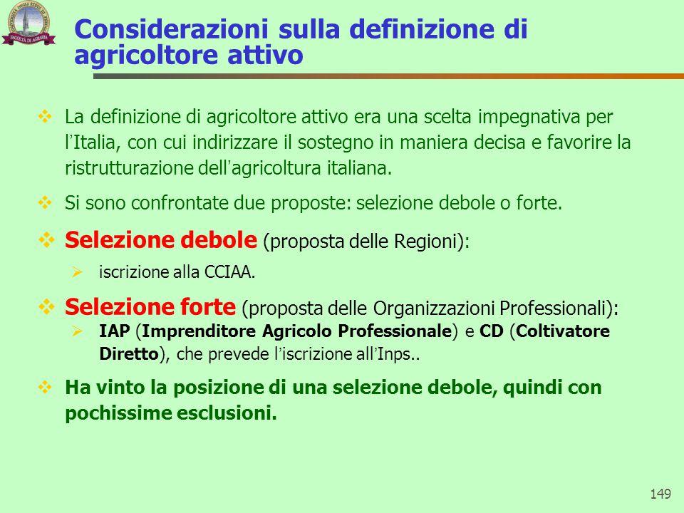 Considerazioni sulla definizione di agricoltore attivo