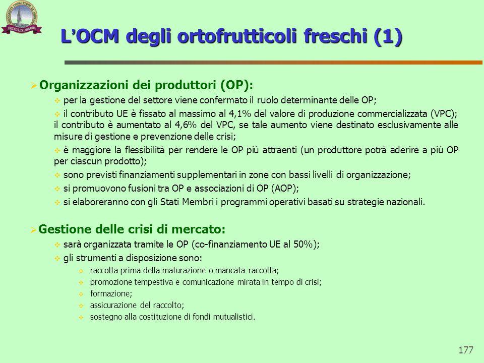 L'OCM degli ortofrutticoli freschi (1)