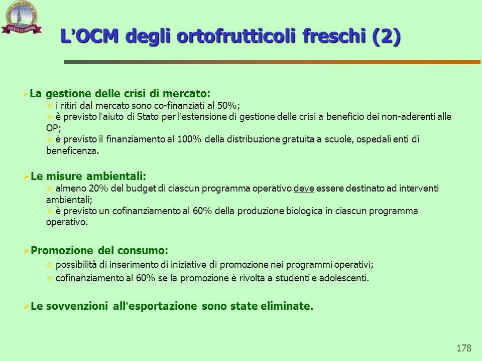 L'OCM degli ortofrutticoli freschi (2)