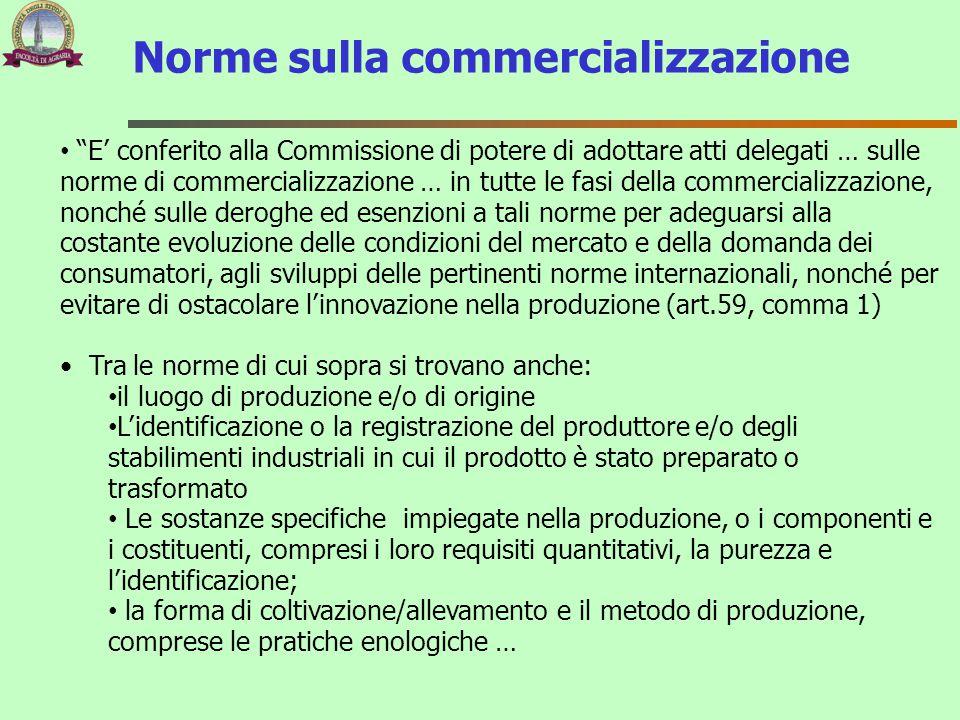 Norme sulla commercializzazione