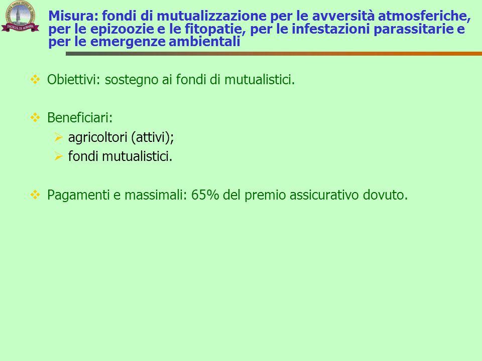Misura: fondi di mutualizzazione per le avversità atmosferiche, per le epizoozie e le fitopatie, per le infestazioni parassitarie e per le emergenze ambientali