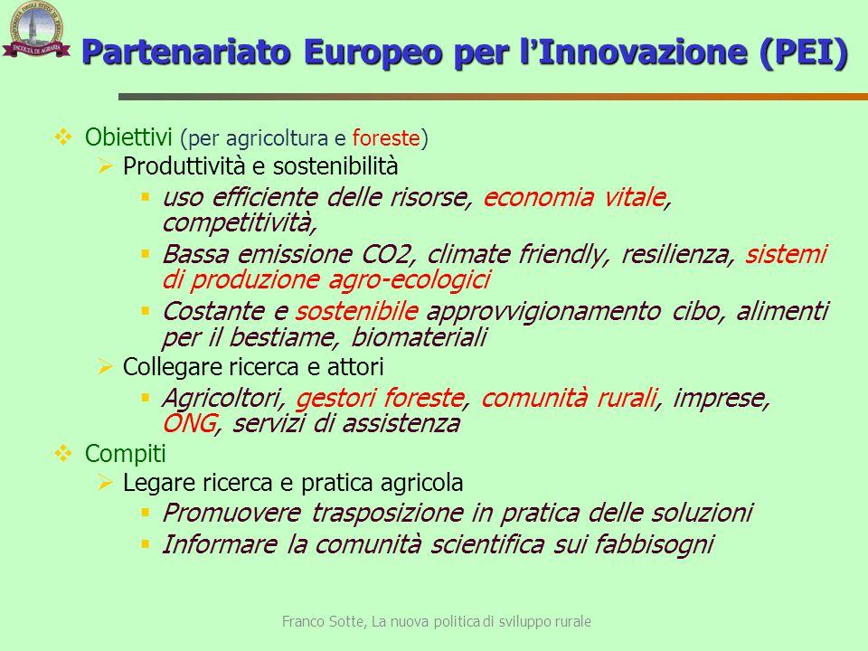 Partenariato Europeo per l'Innovazione (PEI)
