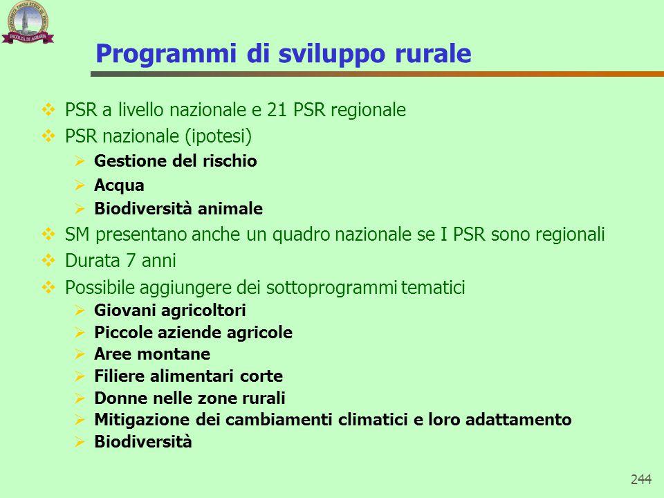 Programmi di sviluppo rurale