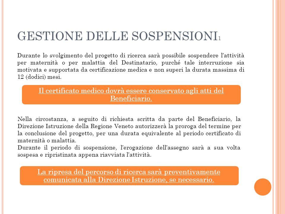 GESTIONE DELLE SOSPENSIONI1