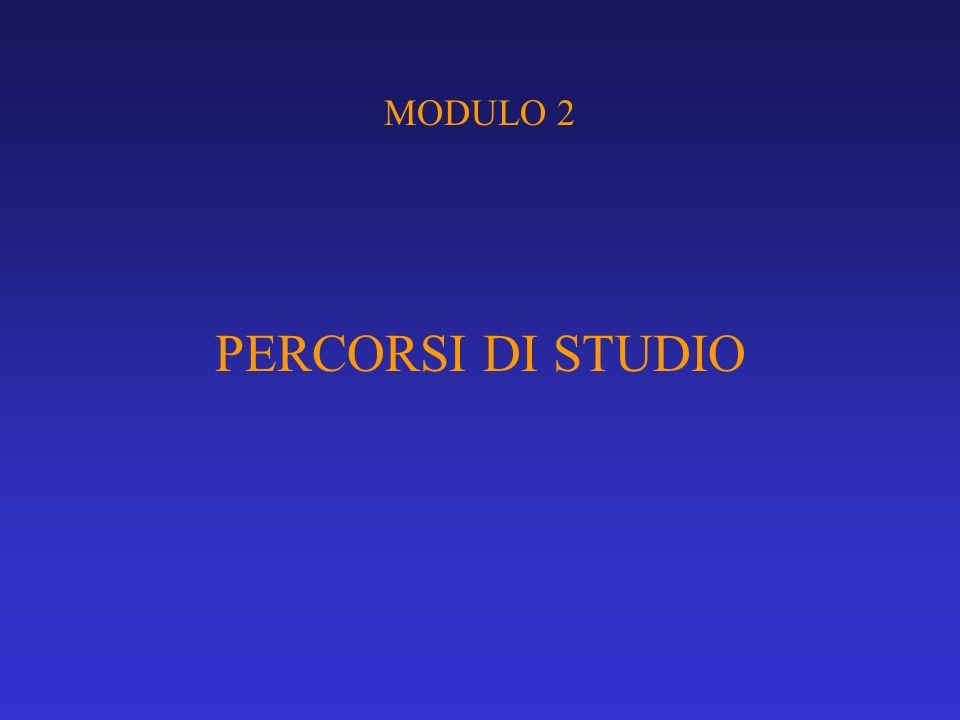 MODULO 2 PERCORSI DI STUDIO