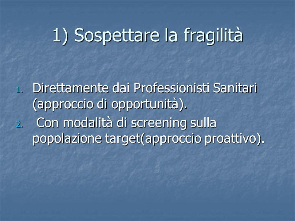 1) Sospettare la fragilità