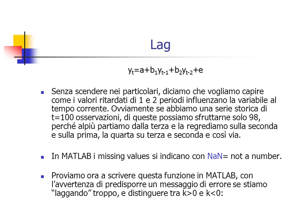 Lag yt=a+b1yt-1+b2yt-2+e.