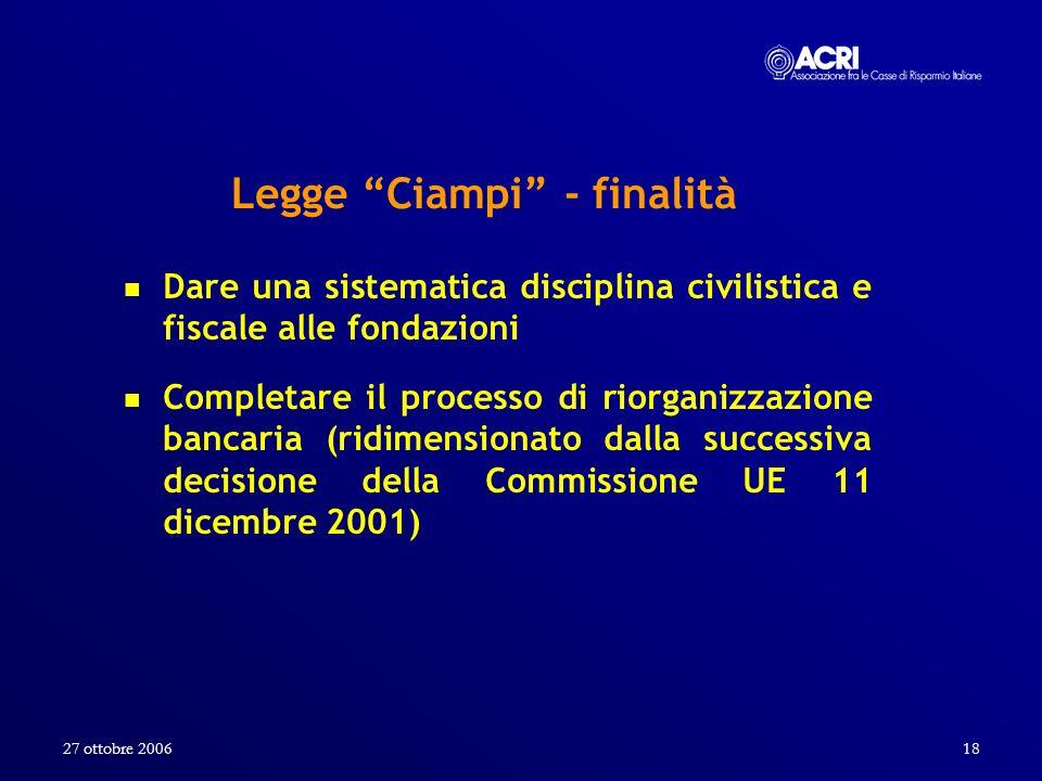 Legge Ciampi - finalità