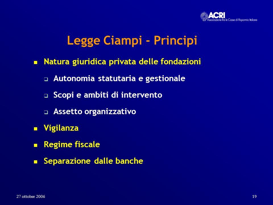 Legge Ciampi - Principi
