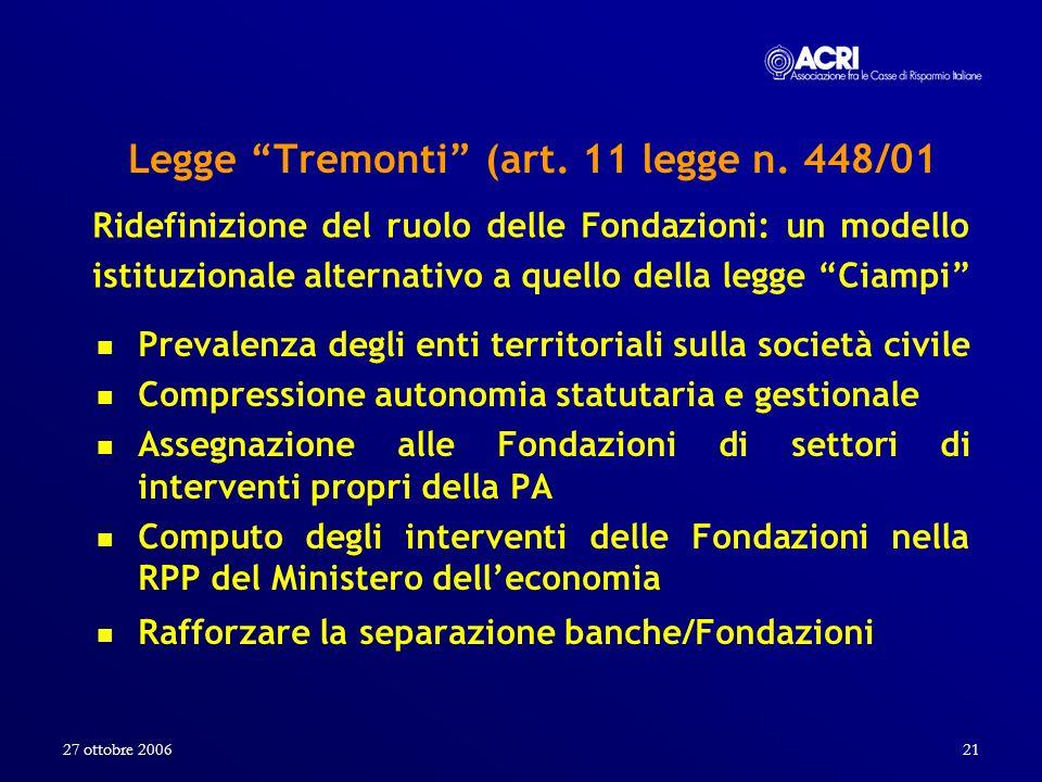 Legge Tremonti (art. 11 legge n. 448/01