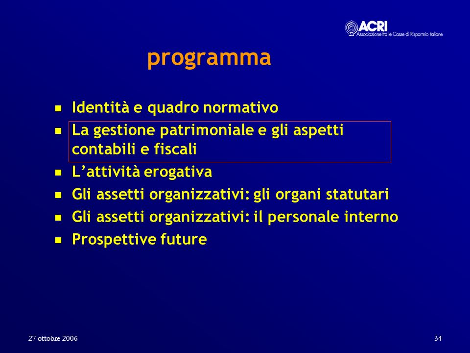programma Identità e quadro normativo