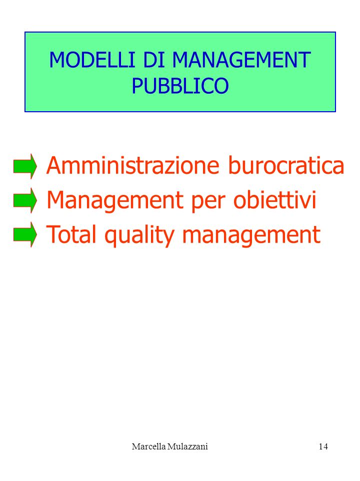MODELLI DI MANAGEMENT PUBBLICO