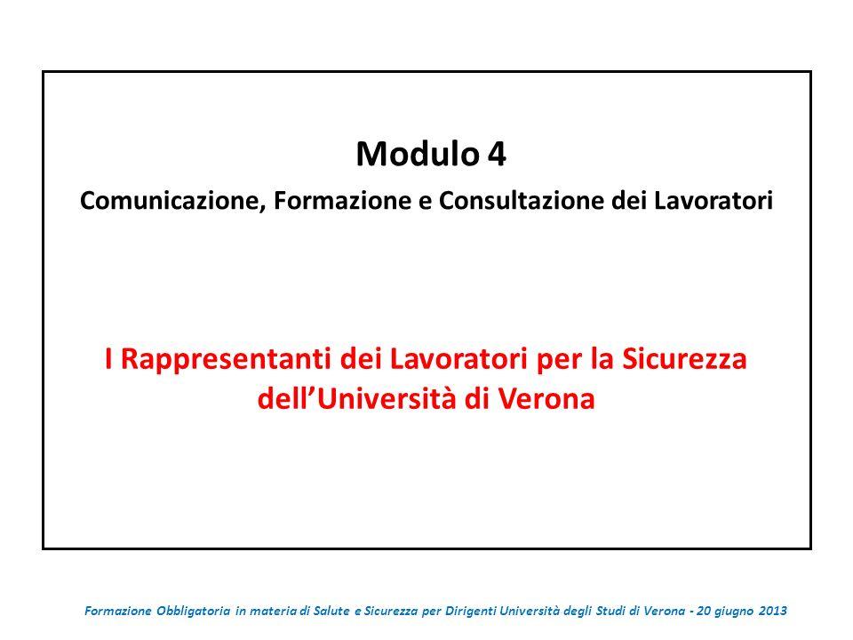 Comunicazione, Formazione e Consultazione dei Lavoratori