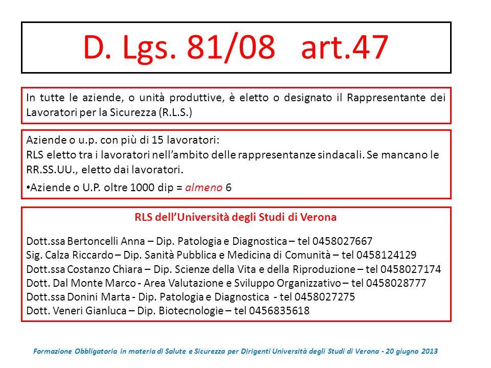 RLS dell'Università degli Studi di Verona