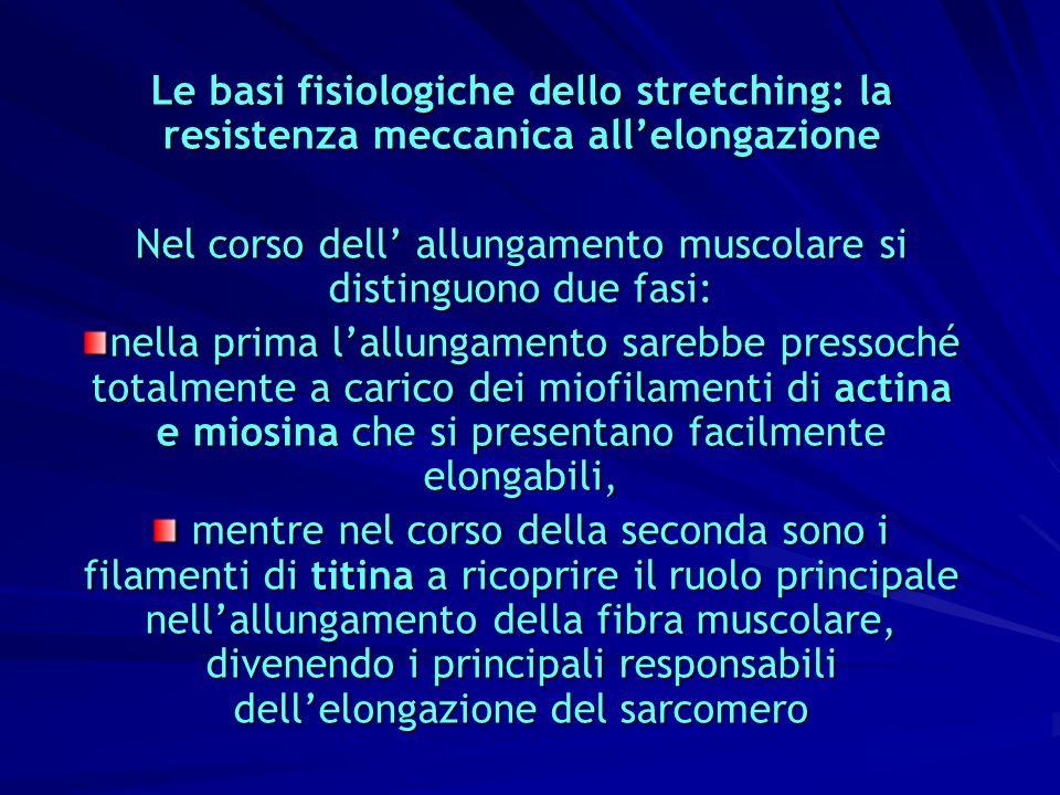 Nel corso dell' allungamento muscolare si distinguono due fasi: