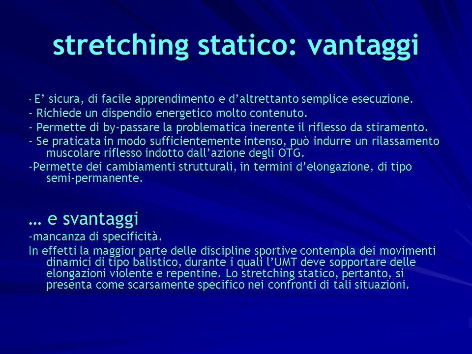 stretching statico: vantaggi