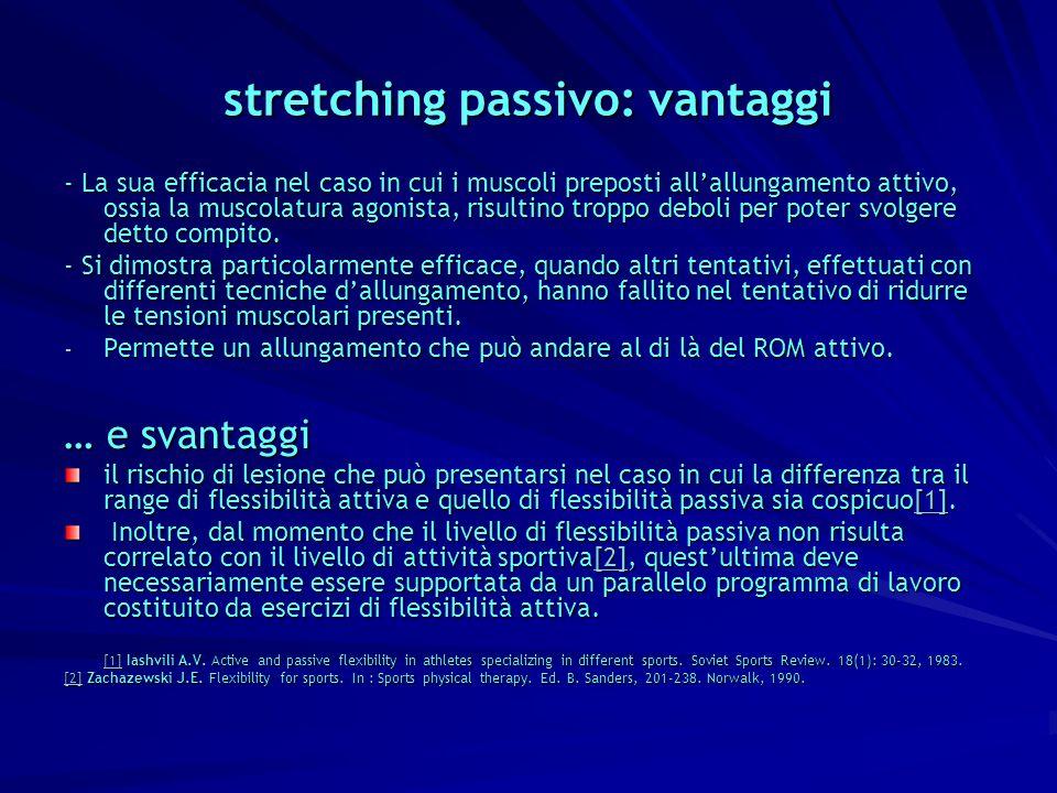 stretching passivo: vantaggi