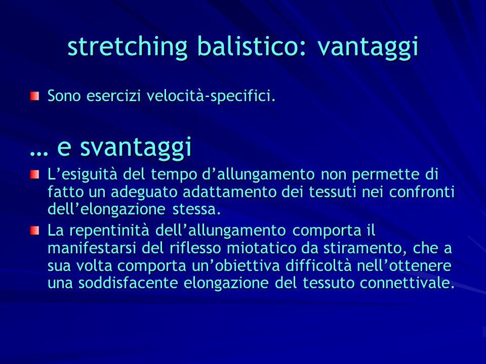 stretching balistico: vantaggi