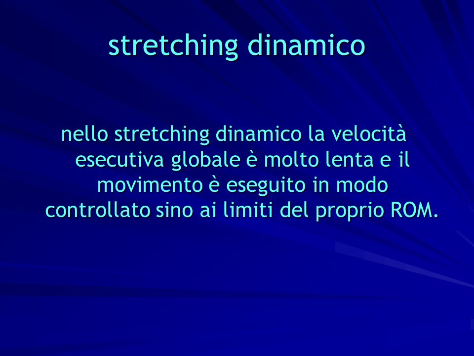 stretching dinamico