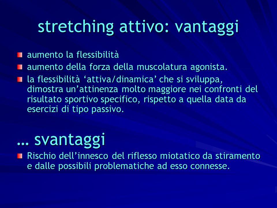 stretching attivo: vantaggi