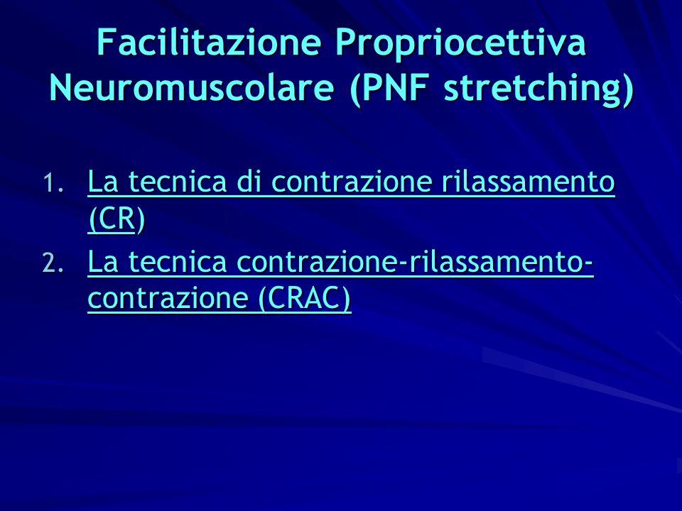 Facilitazione Propriocettiva Neuromuscolare (PNF stretching)