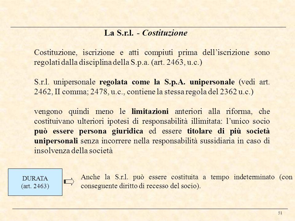 La S.r.l. - Costituzione