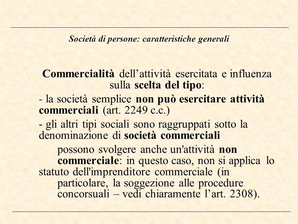 Società di persone: caratteristiche generali