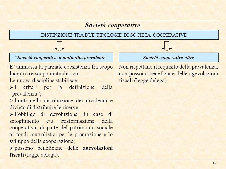 Società cooperative altre
