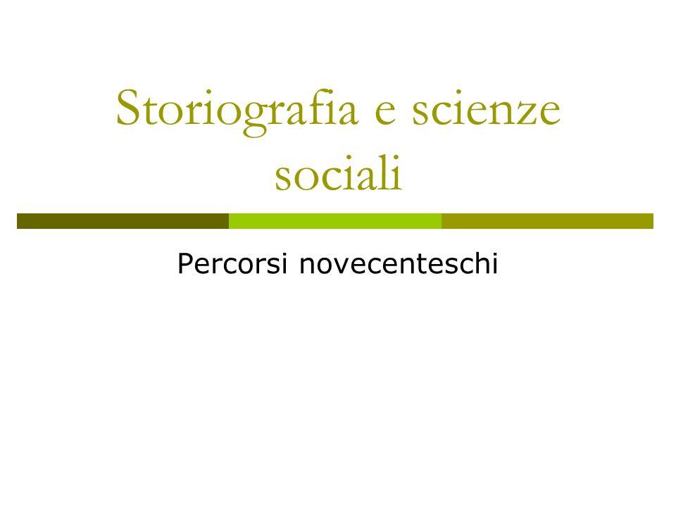 Storiografia e scienze sociali