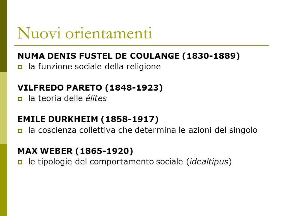 Nuovi orientamenti NUMA DENIS FUSTEL DE COULANGE (1830-1889)