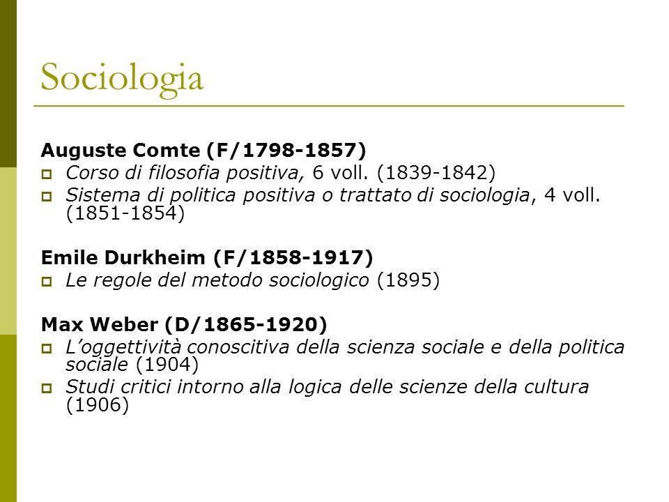 Sociologia Auguste Comte (F/1798-1857)