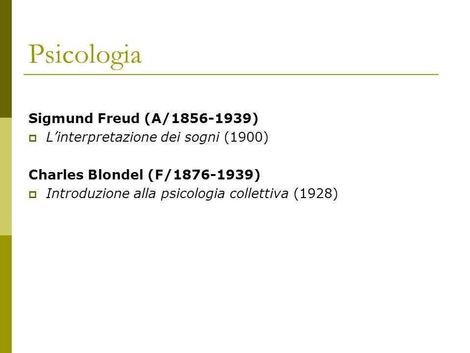 Psicologia Sigmund Freud (A/1856-1939)