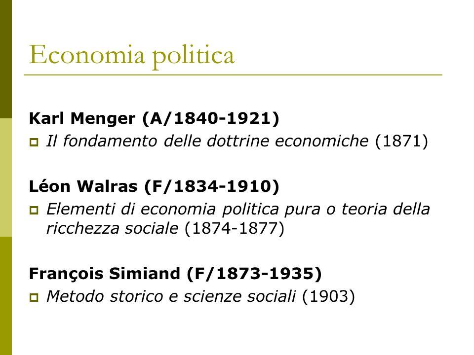 Economia politica Karl Menger (A/1840-1921)