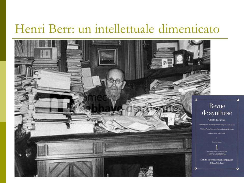 Henri Berr: un intellettuale dimenticato