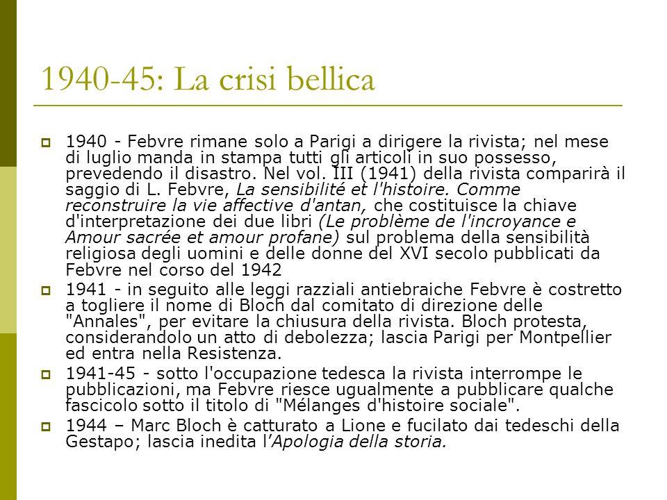 1940-45: La crisi bellica