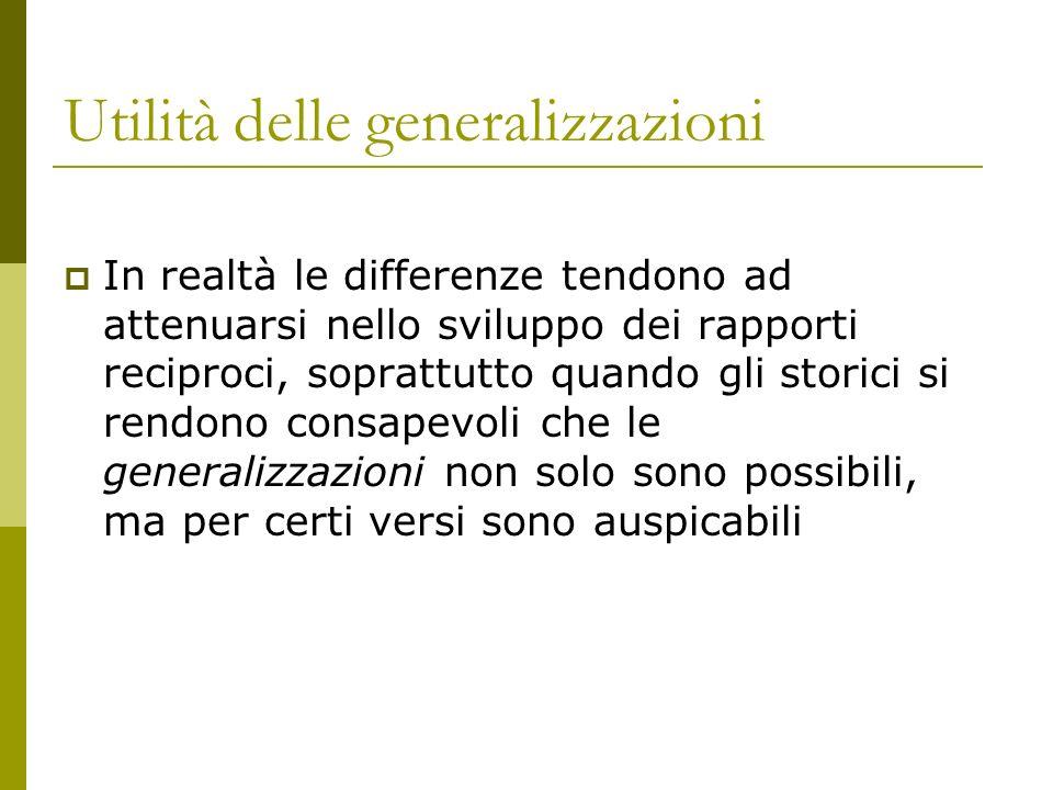 Utilità delle generalizzazioni