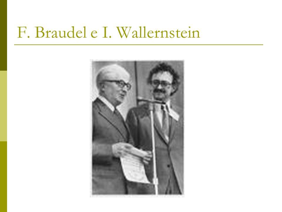 F. Braudel e I. Wallernstein