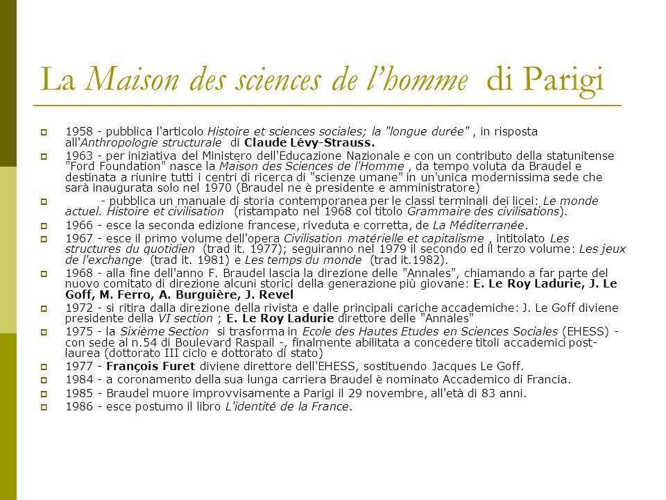 La Maison des sciences de l'homme di Parigi
