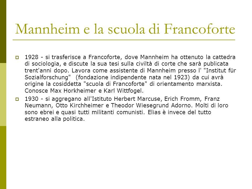 Mannheim e la scuola di Francoforte