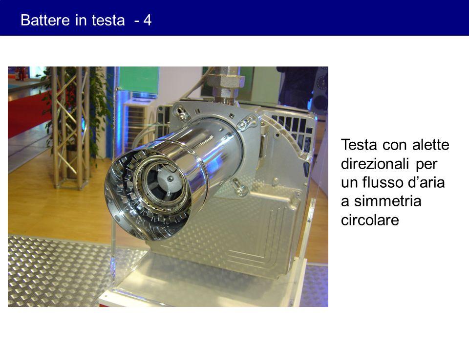 Battere in testa - 4 Testa con alette direzionali per un flusso d'aria a simmetria circolare
