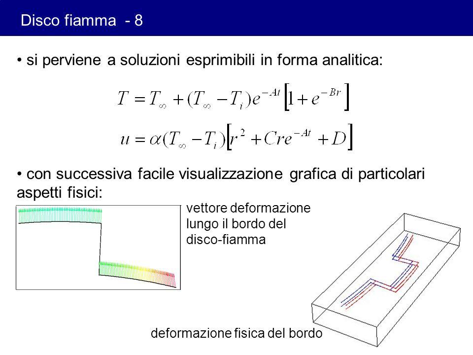 si perviene a soluzioni esprimibili in forma analitica: