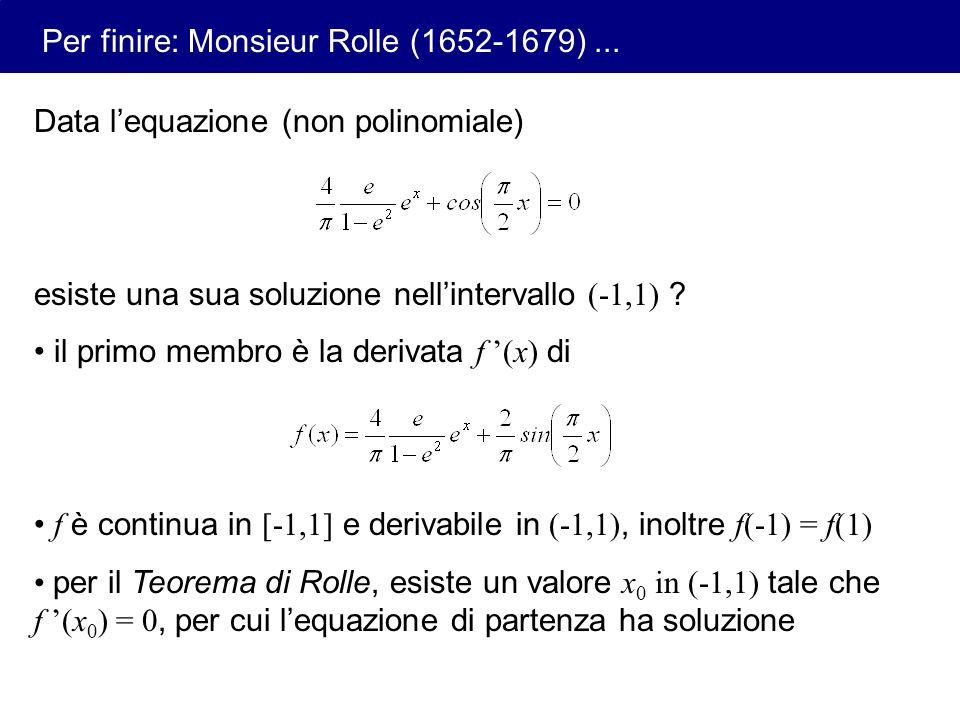 Per finire: Monsieur Rolle (1652-1679) ...
