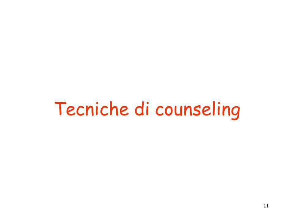 Tecniche di counseling
