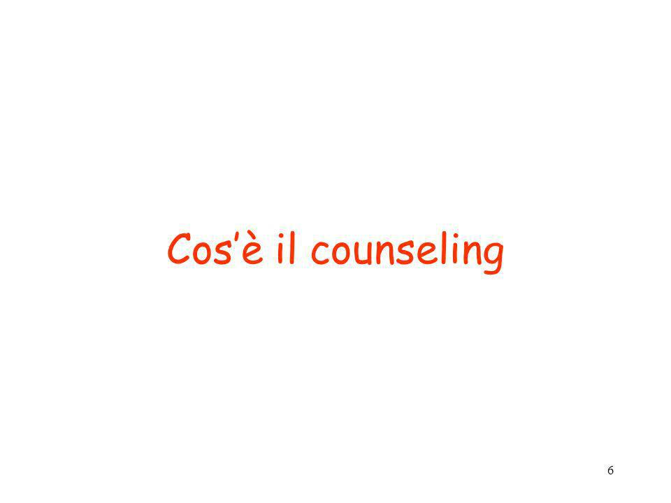 Cos'è il counseling