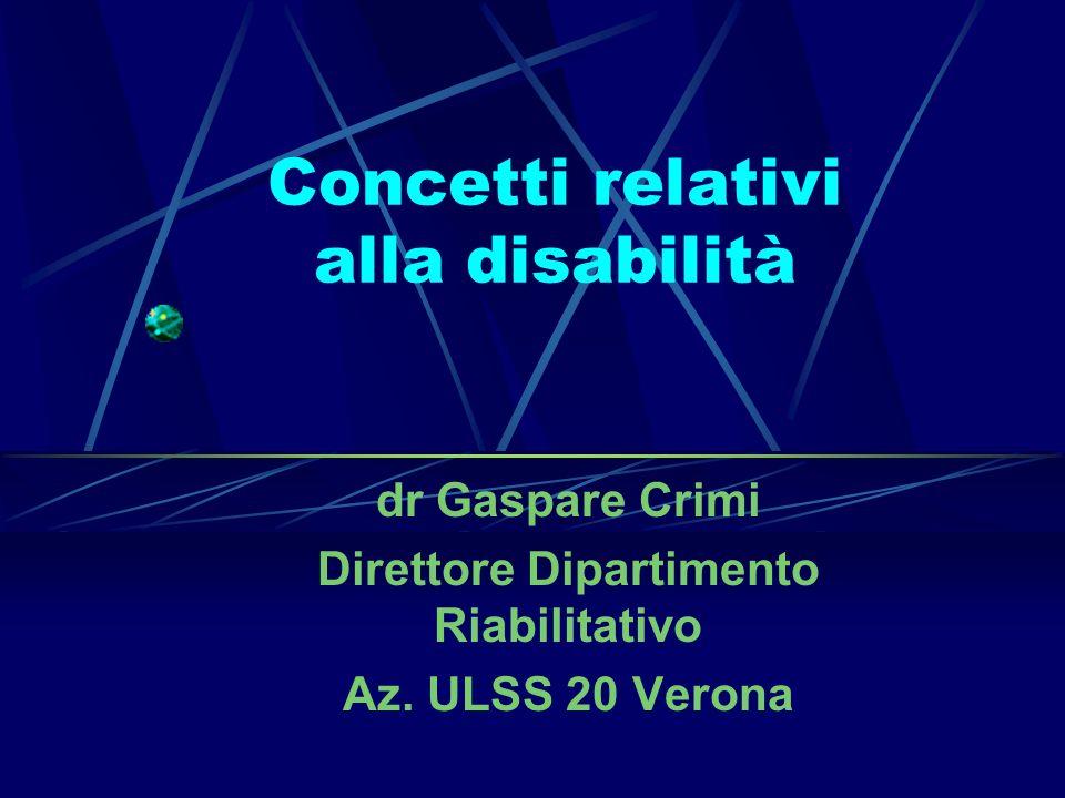 Concetti relativi alla disabilità