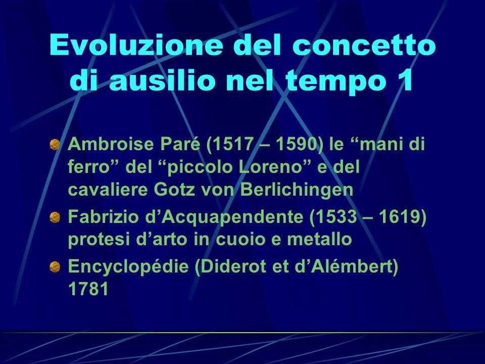 Evoluzione del concetto di ausilio nel tempo 1