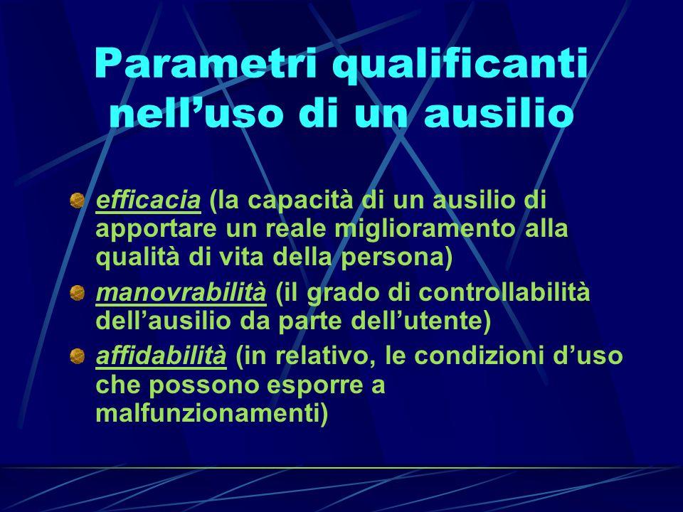 Parametri qualificanti nell'uso di un ausilio